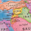 Global Studies - Middle Eastern Countries Centered on Syria — Stockfoto