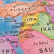 Global Studies - Middle Eastern Countries Centered on Syria — Stok fotoğraf