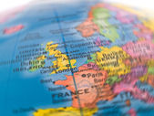 Global Studies A Colorful Closeup of Europe and London — Stock Photo
