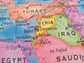 Global Studies - Middle Eastern Countries Centered on Syria — Stock Photo