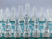 Glass Chessboard — Stock Photo