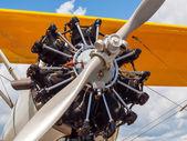 Yellow Propeller Aircraft — Stock Photo