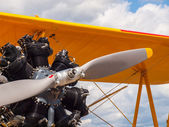 Yellow Propeller Aircraft — Stockfoto