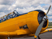 Yellow Propeller Aircraft — Foto de Stock