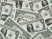 US One Dollar Bill Background — Stock Photo