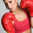 Stock Photo: Boxing Woman