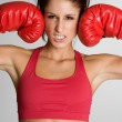 Female Boxer — Stockfoto