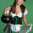 Saint Patricks Day Woman — Stock Photo #12042620