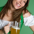 Royalty-Free Stock Photo: Woman Holding Beer