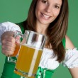 Royalty-Free Stock Photo: Irish Girl Holding Beer