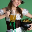 Happy Saint Patricks Girl  — Stock Photo