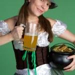 Happy Saint Patricks Girl — Stock Photo #12042629