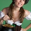 Girl With Pot of Gold — Stock Photo #12042630