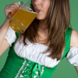 Royalty-Free Stock Photo: Beautiful Woman Drinking Beer