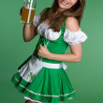 Irish Girl Holding Beer — Stock Photo #12042649