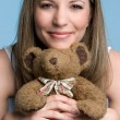 Girl With Teddy Bear — Stock Photo #12042680