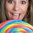 Girl with Lollipop — Stock Photo #12042688