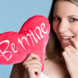 Be Mine Girl — Stock Photo
