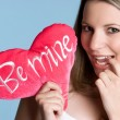 Be Mine Girl - Stok fotoğraf