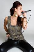 歌っている女の子 — ストック写真