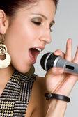 Karaoke Singer — Stock Photo