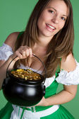 St. Patricks Day Girl — Stock Photo