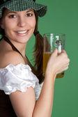 Irish Woman with Beer — Stock Photo