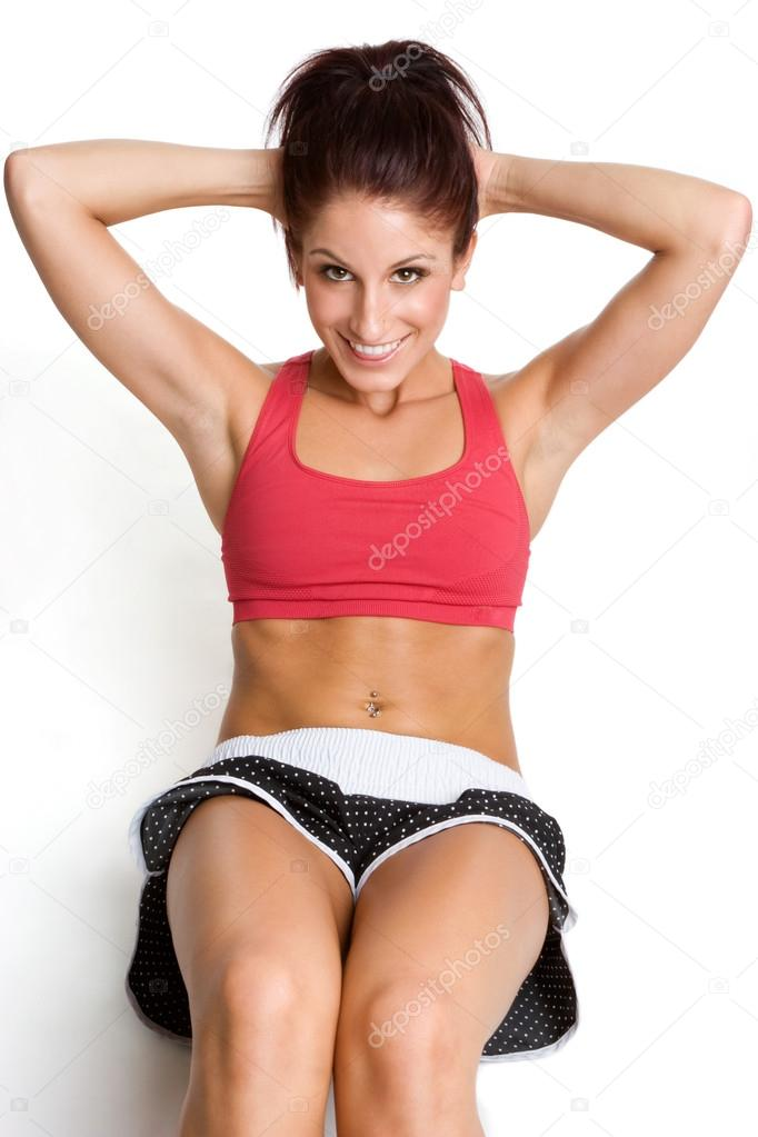 Woman Doing Sit Ups  — Stock Photo #12042506