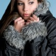 Warm Winter Woman - Stockfoto