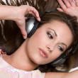 Girl Listening to Music — Stock Photo #12384249