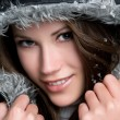 Royalty-Free Stock Photo: Winter Woman Smiling
