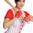 Beautiful Baseball Player — Foto Stock