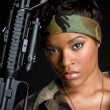 African american military woman - Stock Photo