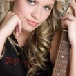 Beautiful Girl with Guitar — Stock Photo