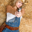 Cowgirl With Gun - Photo