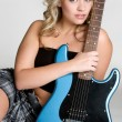 Beautiful Guitar Girl — Stock Photo