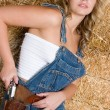 Beautiful Cowgirl - Stock Photo