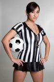 árbitro de fútbol — Foto de Stock