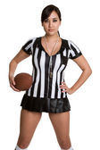 Sexy American Football Referee — Stock Photo