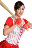 Beautiful Baseball Player — Стоковое фото