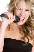 Young Singing Girl — Stock Photo