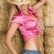 Stock Photo: Sexy Cowgirl
