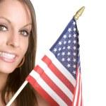 Patriot Girl — Stock Photo