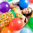 Girl with Balloons — Stock Photo #16627811