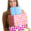 Girl with Gifts — Stock Photo #16627819