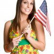 Flag Girl - Stock Photo