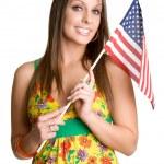 Flag Girl — Stock Photo #16627839