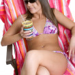 Bikini Girl Relaxing — Stock Photo