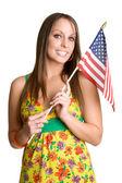 Flag Girl — Stock Photo