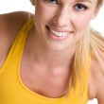 Smiling blonde woman — Stock Photo